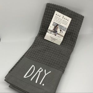 Rae Dunn Kitchen Towels (Gray) - DRY and CLEAN.